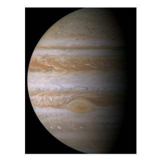 Photograph of the Jupiter planet Postcard