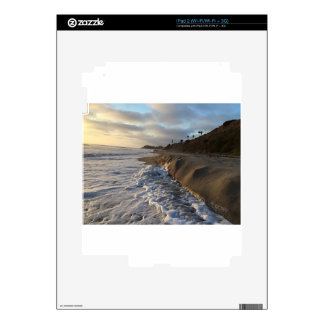 Photograph of the waves hitting the sand decals for iPad 2