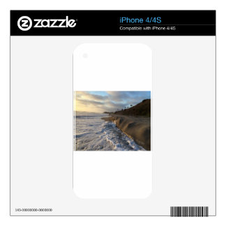 Photograph of the waves hitting the sand decals for the iPhone 4S