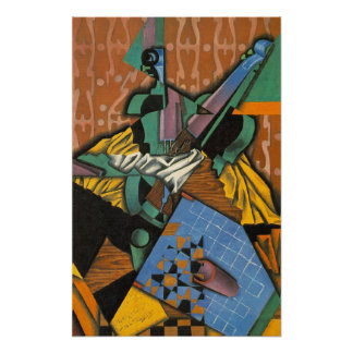 Photograph of Violin and Checkerboard, Juan Gris Poster