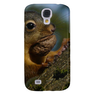 Photograph of Wild Squirrel with Nut Galaxy S4 Cases