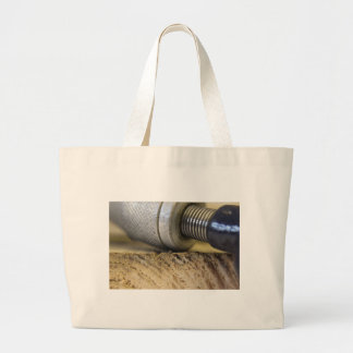 photograph of woodwork tools large tote bag