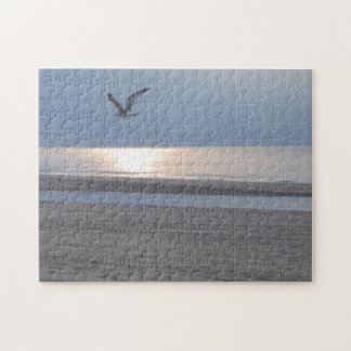 Photograph: Sea coming to shore at dusk Puzzle