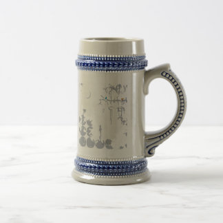 Photograph stain of large point beer stein