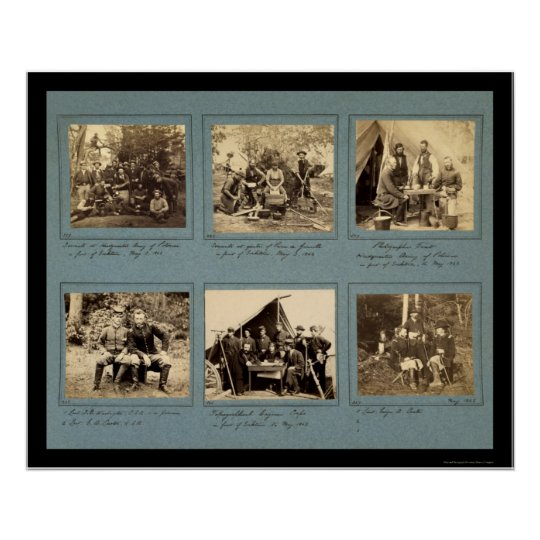 Photograph Vignettes with Custer 1862 Poster