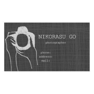 photographer 名刺テンプレート