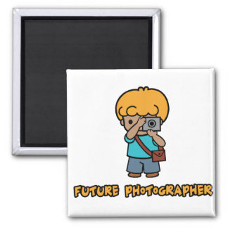 Photographer 2 Inch Square Magnet