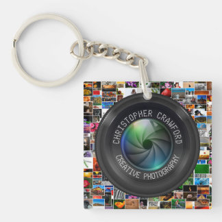 Photographer And Photography Business Camera Lens Keychain