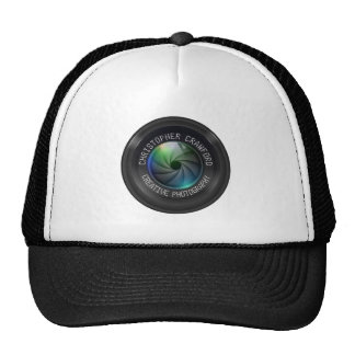 Photographer And Photography Business Camera Lens Trucker Hat