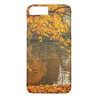 Photographer at lake in autumn iPhone 7 plus case