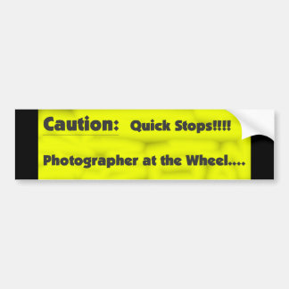 Photographer at the Wheel Bumper Sticker
