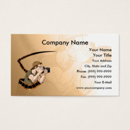 Photographer at Work Business Card