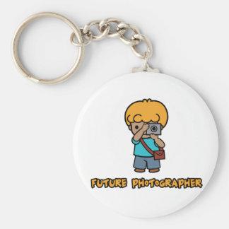 Photographer Basic Round Button Keychain