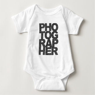 Photographer - Black Text Baby Bodysuit