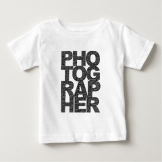 Photographer - Black Text Baby T-Shirt