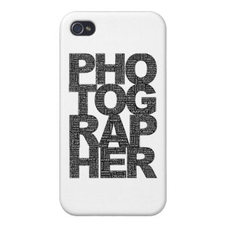 Photographer - Black Text Cases For iPhone 4
