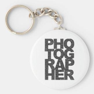 Photographer - Black Text Keychain