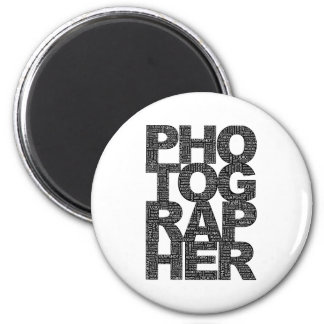 Photographer - Black Text Magnet