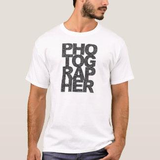 Photographer - Black Text T-Shirt