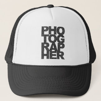 Photographer - Black Text Trucker Hat