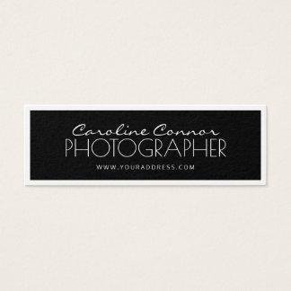 Photographer Black & White Bordered Card