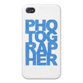 Photographer - Blue Text iPhone 4/4S Case