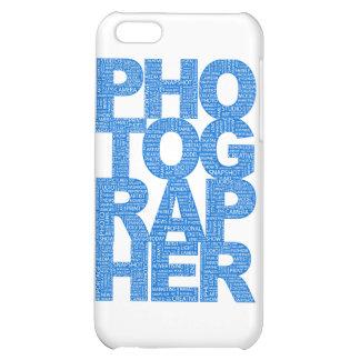 Photographer - Blue Text iPhone 5C Cases