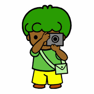 photographer boy cutout