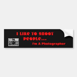 Photographer Bumper Stickers