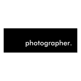 photographer. business card template