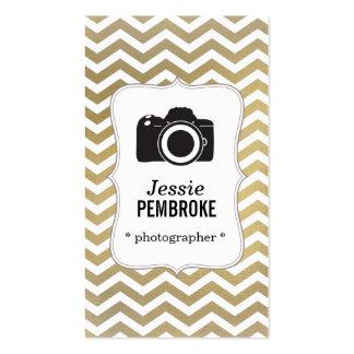 Photographer business card -  faux foil