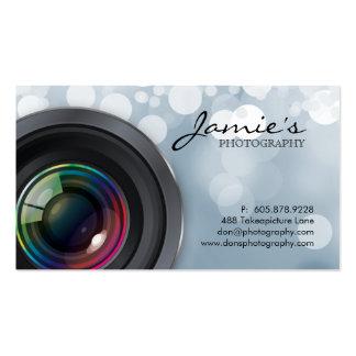Photographer Business Card Modern Gray Lights