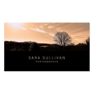 Photographer Business Card Sepia Landscape