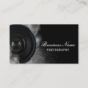 Black business cards zazzle photographer camera black white photography business card colourmoves