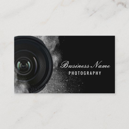 photographer camera black white photography business card - Photography Business Card