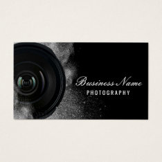 Photographer Camera Black & White Photography Business Card at Zazzle