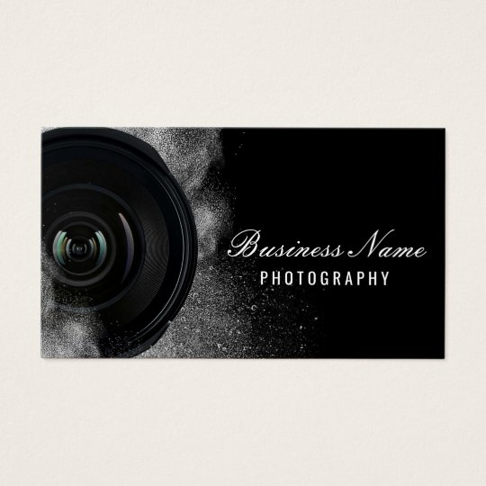 Photographer Camera Black White Photography Business Card