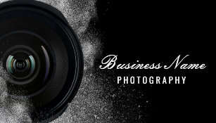 Photography business cards zazzle photographer camera black white photography business card accmission Images