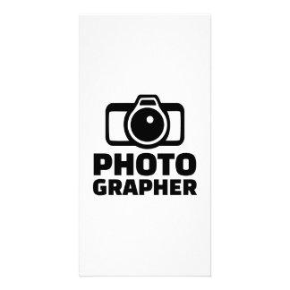 Photographer camera personalized photo card