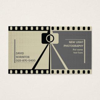 Photographer camera photography black, grey, beige business card