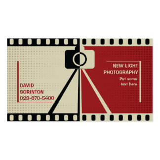 Photographer camera photography black, red, beige Double-Sided standard business cards (Pack of 100)