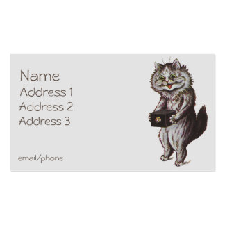 Photographer Cat Double-Sided Standard Business Cards (Pack Of 100)