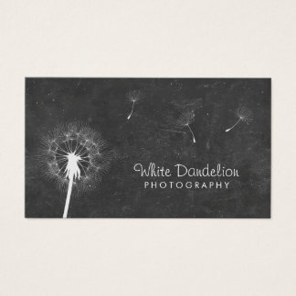 Photographer Chalkboard Dandelion Photography Business Card