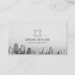Photographer City Skyline Aerial Photography Business Card