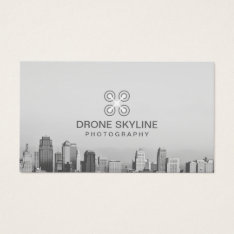 Photographer City Skyline Aerial Photography Business Card at Zazzle