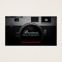 Photographer Classic Camera Modern Photography Business Card