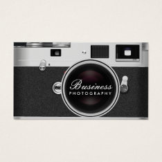 Photographer Classic Camera Photography Business Card at Zazzle