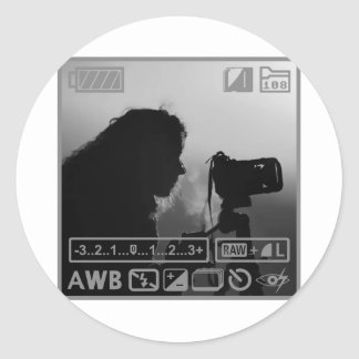 Photographer Classic Round Sticker