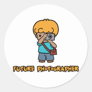 Photographer Classic Round Sticker