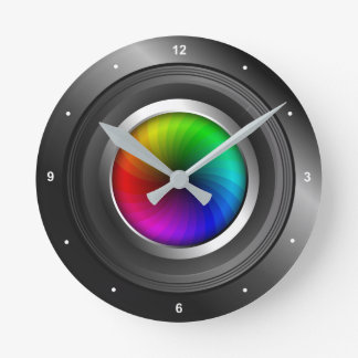 Photographer Color Wheel Camera Lens Photography Round Clock